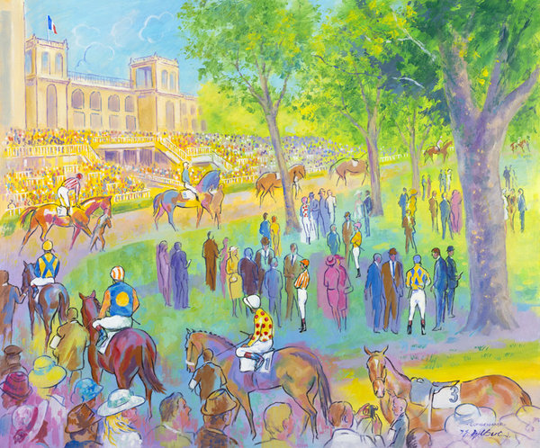 longchamp racecourse prints