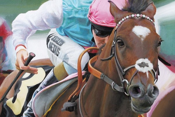 Zoe Johnston Horse Racing Prints