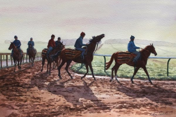 Katy Sodeau Horse Racing Prints