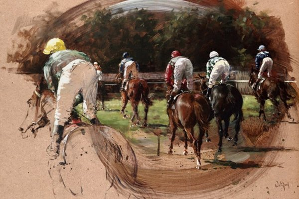 Hubert de Watrigant Horse Racing Prints