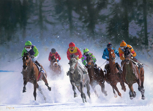 White Turf - St Moritz by Peter Smith