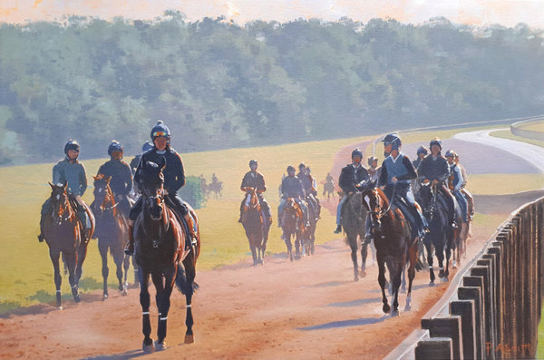 Summer Haze - Warren Hill by Peter Smith