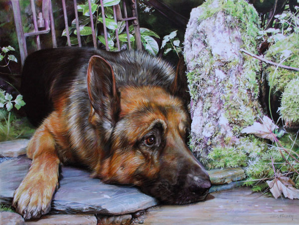 The Guardian - German Shepherd by Denise Finney