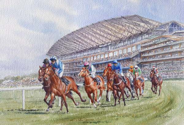 Setting A Steady Pace, Ascot by Katy Sodeau