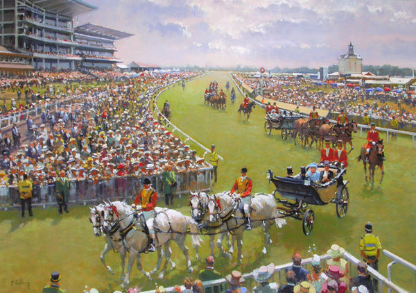 Royal Ascot at York by Peter Curling