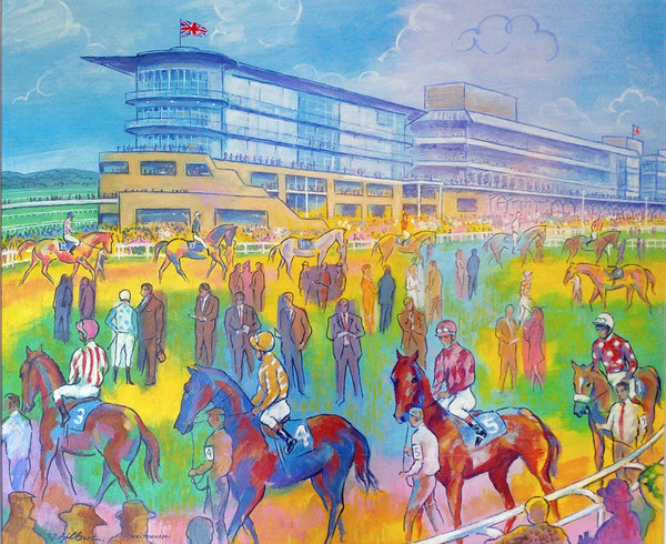 Original Painting - Cheltenham Colours by Terence Gilbert