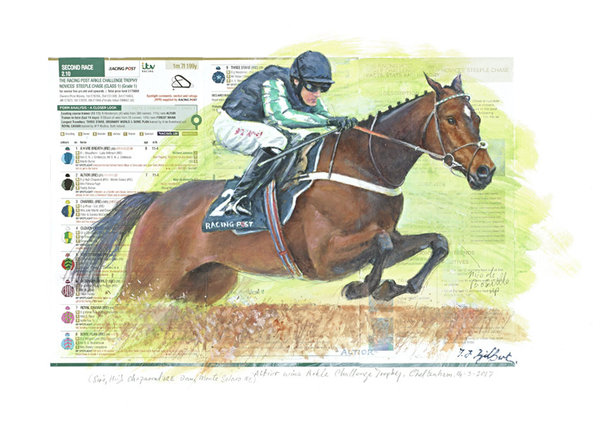 Original Painting - Altior by Terence Gilbert