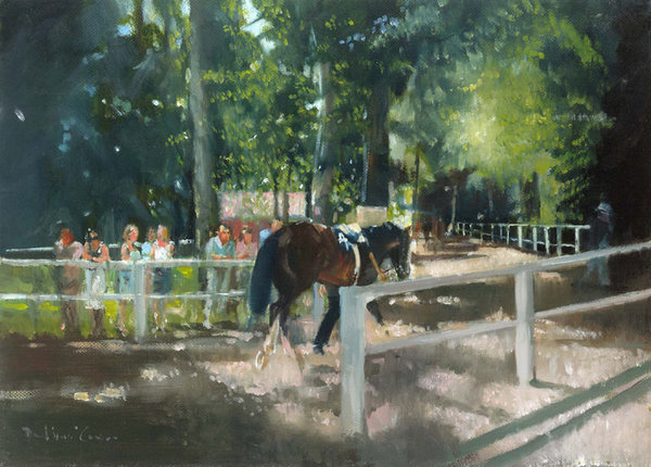 July Shadows - Newmarket by David Mouse Cooper