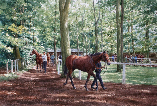 July Hopefuls - Newmarket by Katy Sodeau