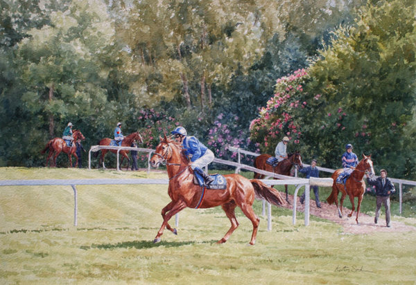 Going To Post, Sandown Park by Katy Sodeau
