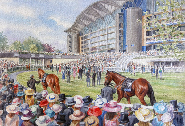 In The Paddock, Ascot by Katy Sodeau