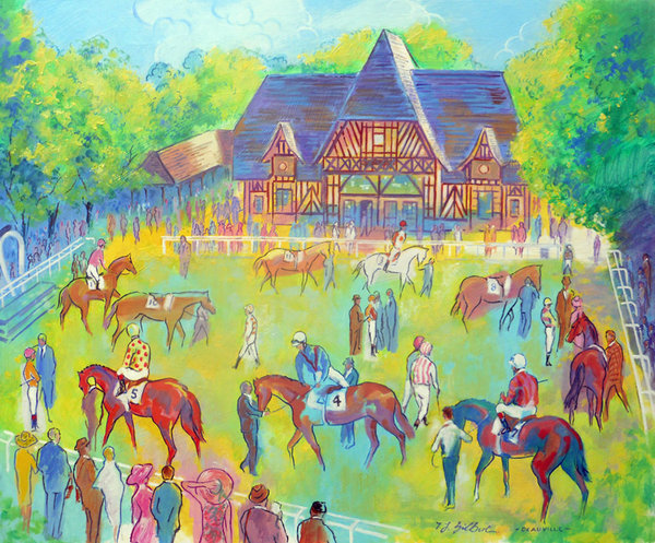 Original Painting - Deauville Colours by Terence Gilbert